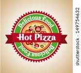 pizza design over vintage... | Shutterstock .eps vector #149754632