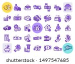 set of vector line icons in... | Shutterstock .eps vector #1497547685