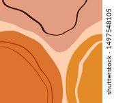 terracotta art print abstract... | Shutterstock .eps vector #1497548105