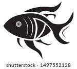 fish logo creative design.... | Shutterstock .eps vector #1497552128