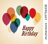 decoration with balloons for a... | Shutterstock .eps vector #149756438