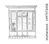 informational poster sketch...   Shutterstock .eps vector #1497573458