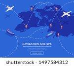 cargo shipping web banner...