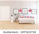 idea of a white minimalist... | Shutterstock . vector #1497622718