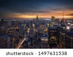 Small photo of New York, the city that never sleeps with its thousands of night lights.