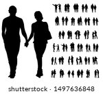 couple of young guy and girl on ... | Shutterstock .eps vector #1497636848