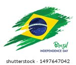 brazil flag in grungy brush... | Shutterstock .eps vector #1497647042
