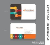 trendy isometric business cards ... | Shutterstock .eps vector #149765195