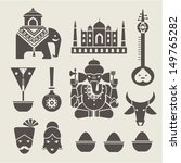 indian icons | Shutterstock .eps vector #149765282