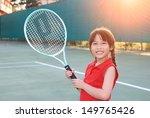 Portrait of sporty beautiful...