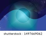 stylish turquoise background... | Shutterstock . vector #1497669062