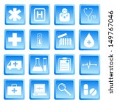 medical and health icon set... | Shutterstock .eps vector #149767046