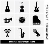 music instrument icon set | Shutterstock .eps vector #149767412
