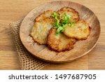 potato pancakes  draniki ... | Shutterstock . vector #1497687905