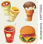 cartoon fast food icon | Shutterstock .eps vector #149770352
