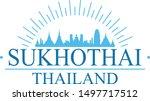 sukhothai thailand city. banner ... | Shutterstock .eps vector #1497717512