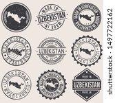 uzbekistan travel stamp made in ... | Shutterstock .eps vector #1497722162