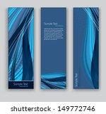 vector banners. set of three. | Shutterstock .eps vector #149772746