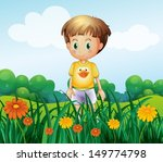 illustration of a young boy in... | Shutterstock .eps vector #149774798