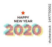 2020 happy new year creative... | Shutterstock .eps vector #1497750002