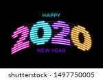 2020 happy new year luminous... | Shutterstock .eps vector #1497750005