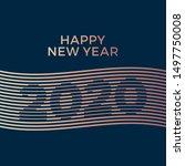 2020 happy new year creative... | Shutterstock .eps vector #1497750008