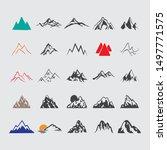 set of flat design mountain...   Shutterstock .eps vector #1497771575