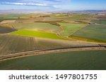 Aerial Photos Above A Vineyard...