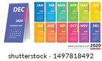 creative wall calendar 2020... | Shutterstock .eps vector #1497818492