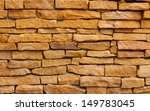 ancient stone brick wall ... | Shutterstock . vector #149783045