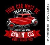 trendy fanatic car t shirt... | Shutterstock .eps vector #1497833558