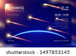 business conference simple... | Shutterstock .eps vector #1497853145