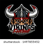 vikings football team design... | Shutterstock .eps vector #1497855452