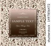 vintage invitation design with...   Shutterstock .eps vector #1497856472