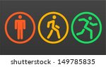 three vector human icon  stand  ... | Shutterstock .eps vector #149785835