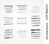 set of vector grunge brushes.... | Shutterstock .eps vector #149786015