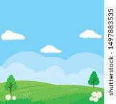 nature landscape vector... | Shutterstock .eps vector #1497883535