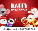 happy new year lettering  polar ... | Shutterstock .eps vector #1497902945