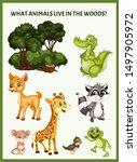 children educational game. what ... | Shutterstock .eps vector #1497905972