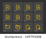 set of files icons. vector...