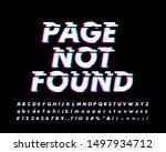 strong bold glitch alphabet... | Shutterstock .eps vector #1497934712