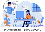 vector illustration business... | Shutterstock .eps vector #1497939242