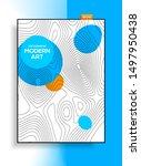 minimalistic modern design from ... | Shutterstock .eps vector #1497950438