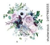 dusty violet lavender  mauve... | Shutterstock .eps vector #1497980555