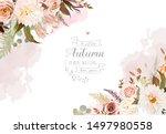 moody boho chic wedding vector... | Shutterstock .eps vector #1497980558