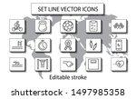 set of fitness vector line...   Shutterstock .eps vector #1497985358