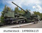 Railway artillery gun conveyor, USSR. Military equipment of the Second world war.