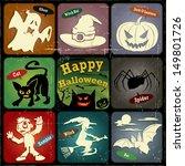vintage halloween poster  label ... | Shutterstock .eps vector #149801726