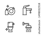 cleaning icon set including... | Shutterstock .eps vector #1498032518