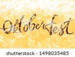oktoberfest. background for ads....   Shutterstock . vector #1498035485